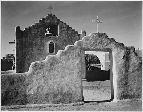 """Iglesia de Adams"" - Ansel Adams"