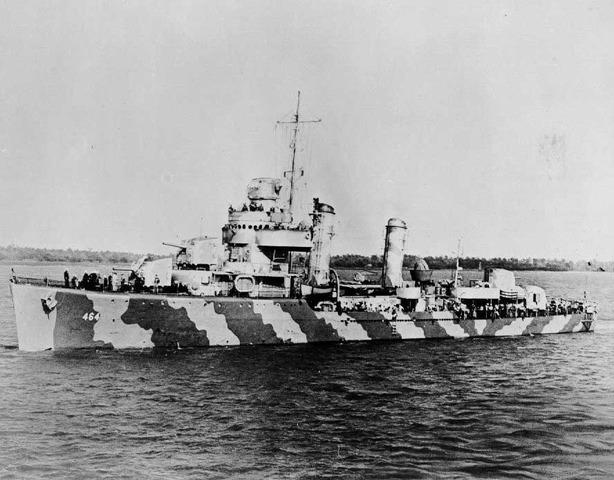 The USS Hobson sinks