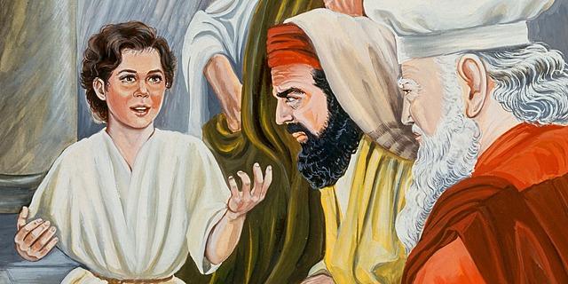 JESÚS, NIÑO, ENSEÑA EN EL TEMPLO