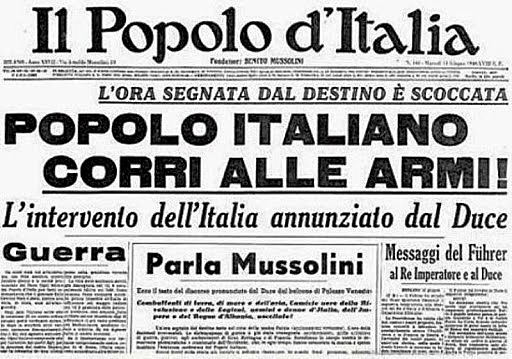 Itàlia entra en Guerra