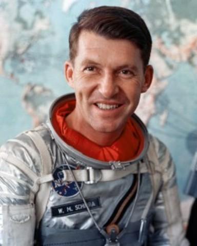 AMERICAN: Walter Schirra orbits the Earth six times.
