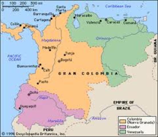 Desestabilidad de la Gran Colombia