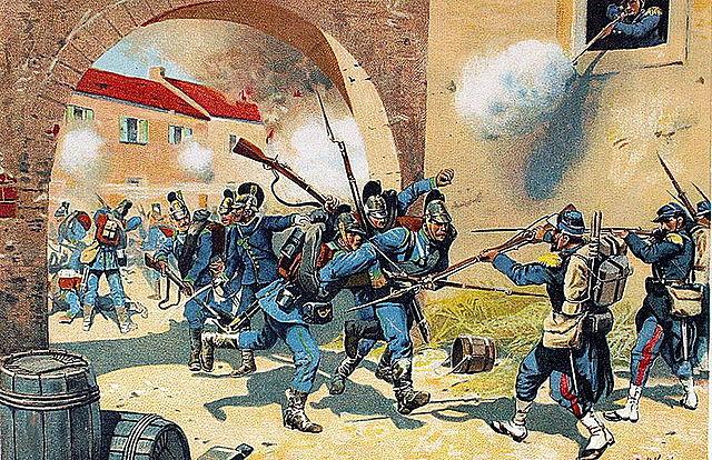 La caduta di Napoleone III  con la sconfitta di Sedan