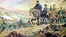 El ejercito libertador cruza Los Andes