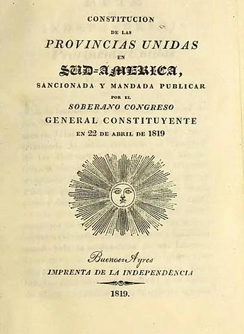 Constitución unitaria de las Provincias Unidas