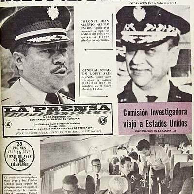Gobiernos militares en Honduras (1957-1979) timeline