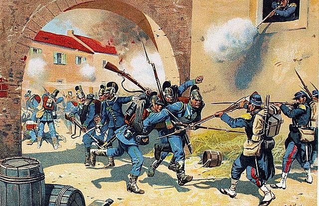 La Francia sconfitta dalla Prussia