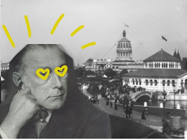 Adolf Loos visita l'Exposició de Chicago