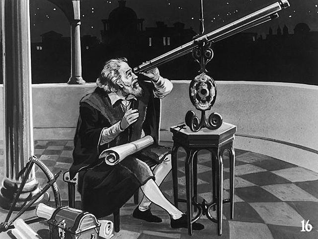 Galileo and observation in the telescope