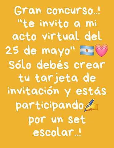Concurso Acto virtual 25 de mayo de 1810