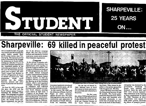 Sharpville Massacre in S.A.
