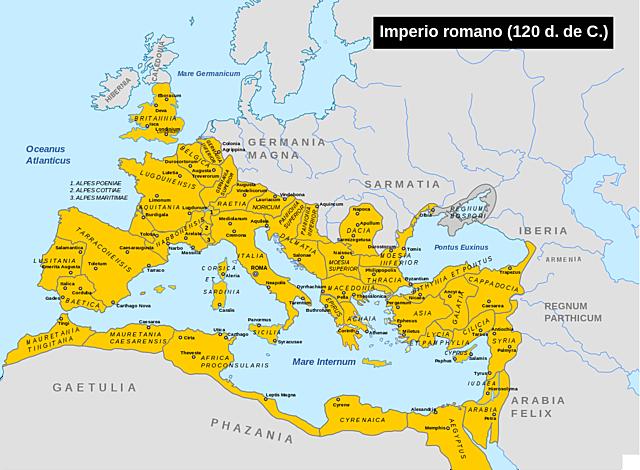 Mayor expansión territorial de Roma.