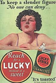 Lucky Strike and Women: Reach for a Lucky instead of a sweet