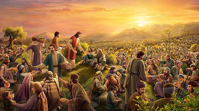 JESÚS ALIMENTA A CINCO MIL PERSONAS