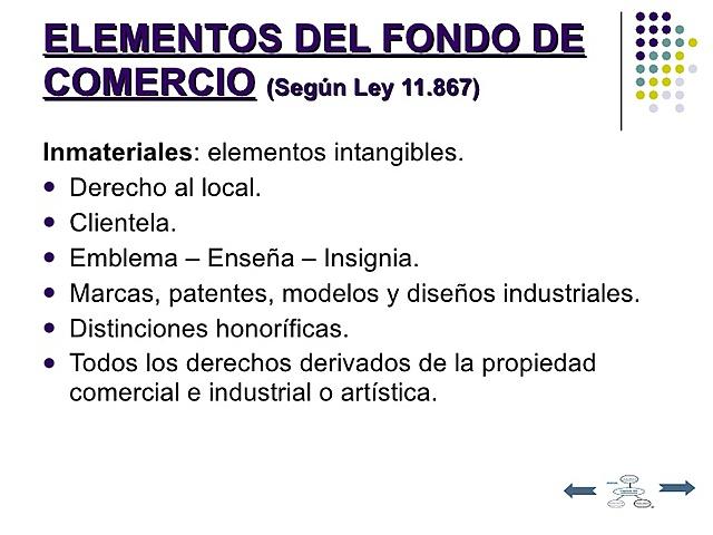 Art. 1 Ley Nº 11.867  Elementos de un Fondo de Comercio