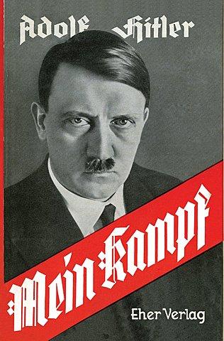 Primera publicació del llibre 'La meva lluita (Mein Kampf)' escrit per Adolf Hitler.