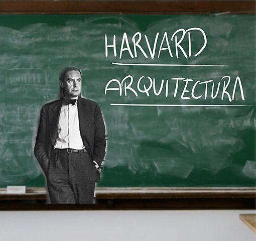 Walter Gropius ensenyant a Harvard.