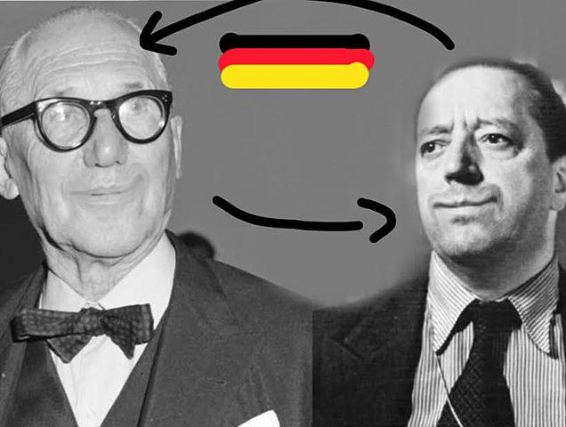 Le corbusier va a viure a Alemanya