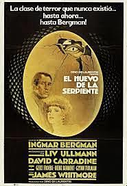 Película:El huevo de la serpiente. Ingmar Bergman. Alemania (RFA)