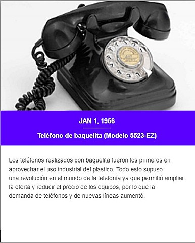 Teléfono de baquelita 5523-EZ de Standard Eléctrica