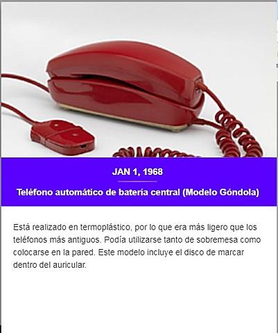 Teléfono automático de batería central (Modelo Góndola)