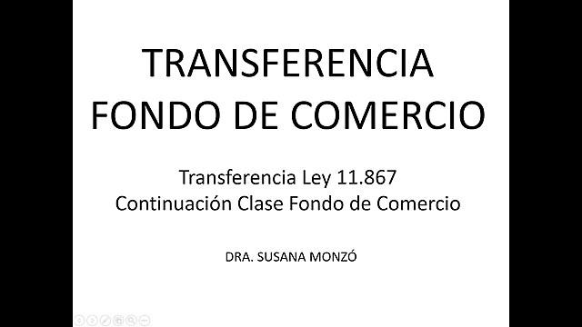 Art. 2 Ley Nº 11.867 Transferencia de Fondo de Comercio