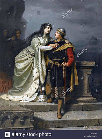 6. Sir Lancelot went to save the Queen