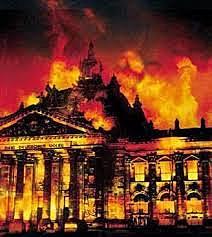 El Reichstag en flames