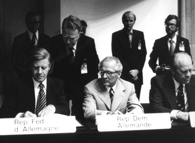 Gerald Ford signs the Helsinki Accords on European security