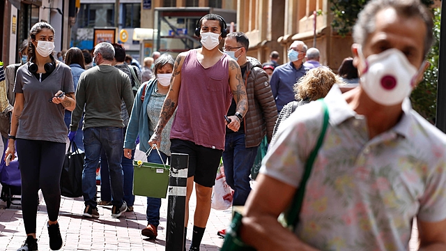 Wearing mask in Spain has become compulsory in public places.