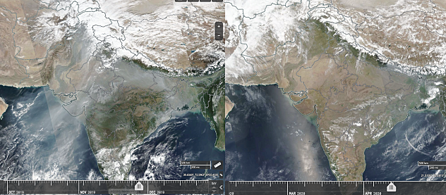 'Beautiful' view emerges as polluted sky clears in India amid lockdown