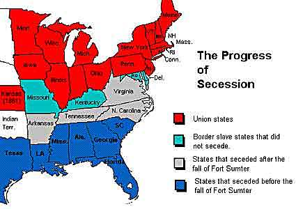 The South seceded from the union
