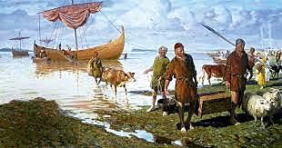 Fechas de establecimiento de los vikingos en Inglaterra e Italia