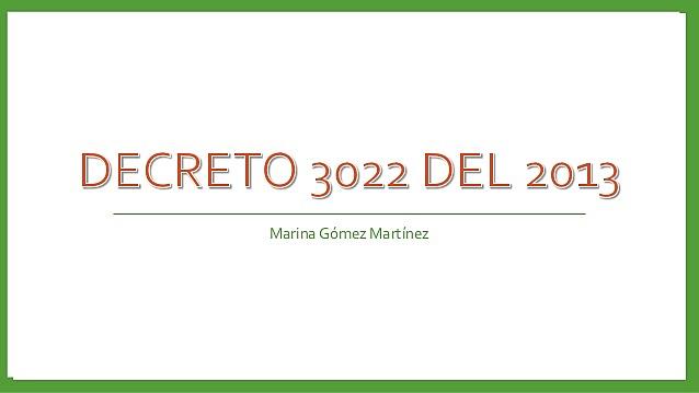 Decreto 3022
