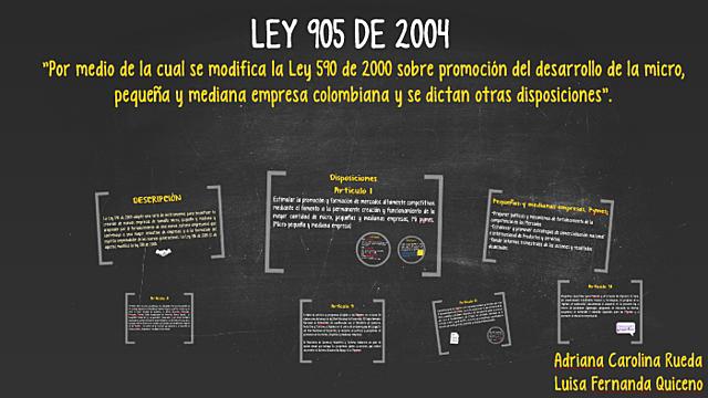 Ley 905