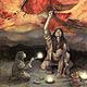 Arturo asensio ilustración para la exposición la mirada al paleolítico