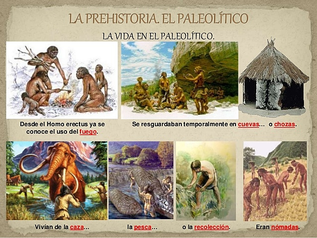 PALEOLÍTICO  PREHISTORIA (EDAD PRIMITIVA)