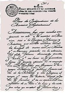 Proclama 1821
