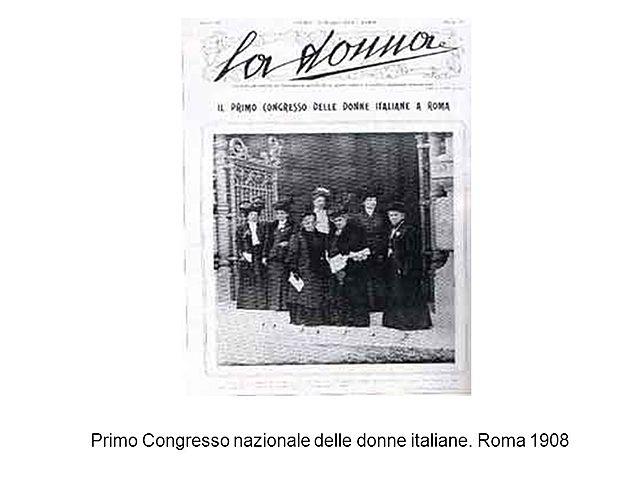 I Congresso Nazionale delle donne italiane. Roma