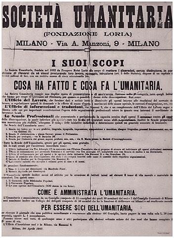 La prima Casa dei Bambini a Milano in via Andrea Solari 54.