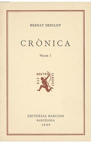 Crònica de Bernat d' Esclot