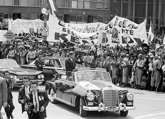 El presidente de Estados Unidos, John F. Kennedy, llega de visita a México.