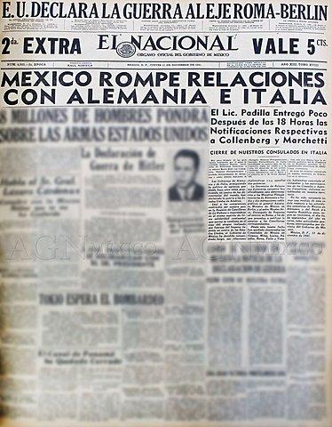 El gobierno mexicano rompe relaciones diplmáticas con Italia y Alemania