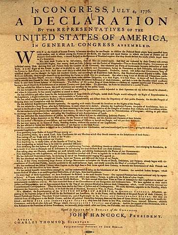 Declaration of Independence is adopted