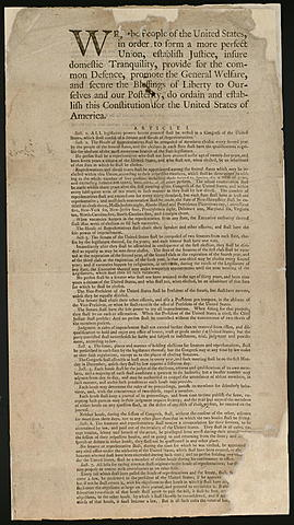 Constitution of the United States is composed
