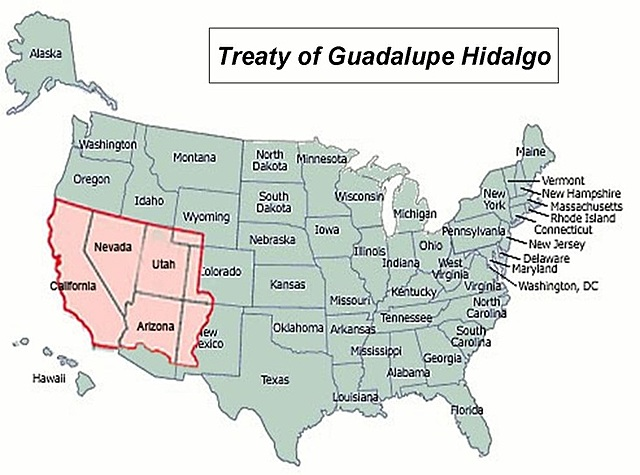 The Treaty of Guadalupe-Hidalgo is signed