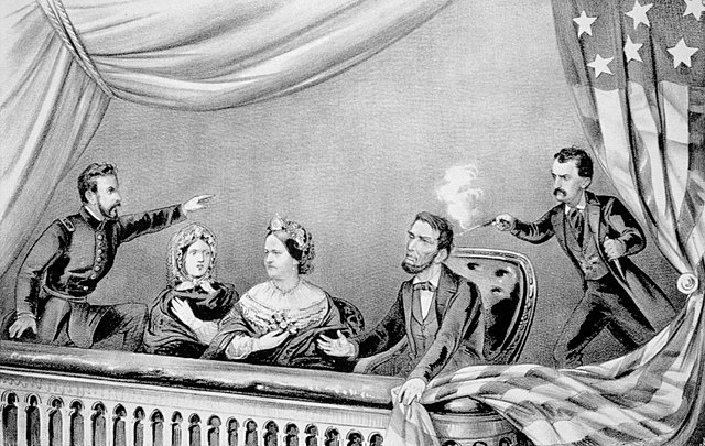 President Abraham Lincoln is assassinated