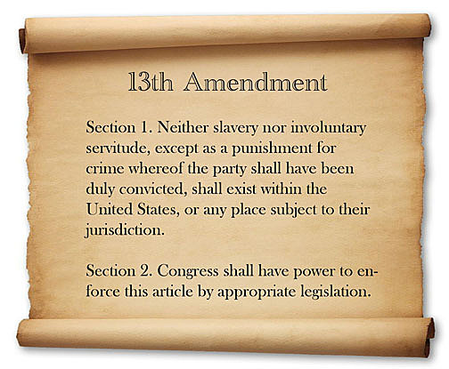 Slavery is outlawed in USA