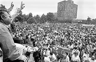 Huelga estudiantil de 9 meses de la UNAM.