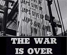 The War was over